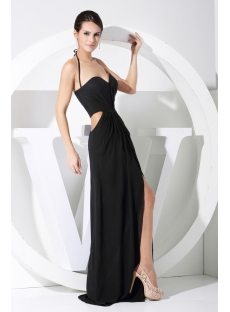 Black Sexy Celebrity Dress with Keyhole WD1-062