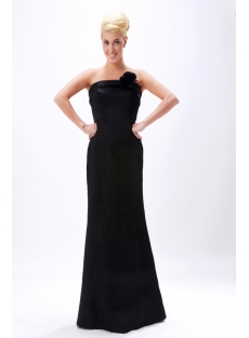 Black Simple Sheath Floor Length Evening Dress 2012 SOV111011