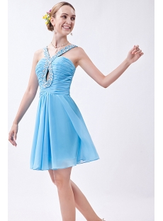 Blue Mini Charming Sweet 16 Dresses with Keyhole IMG_0973