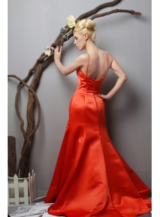 Brilliant Orange Amazing Prom Dresses with Train under 200 SOV111014