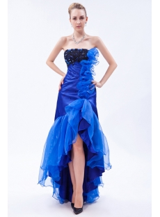 Brilliant Royal High-low Sweet 16 Prom Dress IMG_9747
