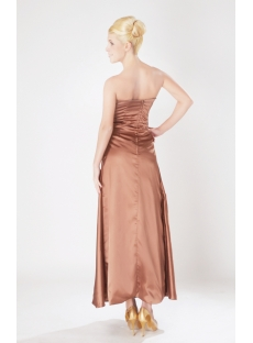 Brown Strapless Plus Size Bridesmaid Gowns with Ankle Length SOV111006