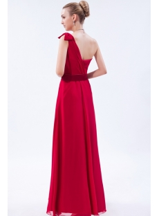 Burgundy One Shoulder Prom Dress Gentle 2013 img_9632