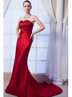 Burgundy Sheath 2013 Prom Dress with Train img_0110