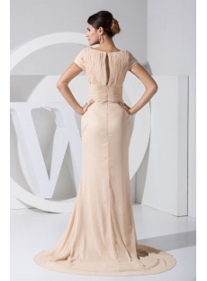 Champagne Short Sleeves Beautiful Celebrity Evening Dress WD1-034