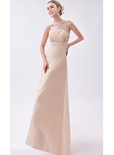Champagne Strapless High-low Informal Prom Dress IMG_1150