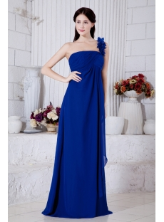 Charming Maternity Prom Dress Royal Blue with One Shoulder IMG_7330