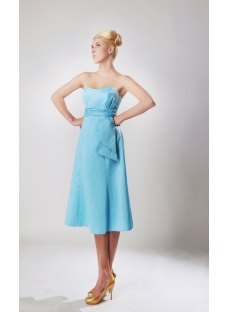 Cheap Blue Tea Length Homecoming Dresses 2012 SOV112002