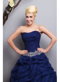 Cheap Charming Navy Blue Quinceanera Dresses 2013 Long SOV113011