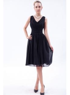 Cheap Classic Black Short Bridesmaid Dresses IMG_9544