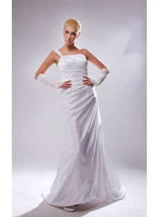 Cheap One Shoulder A-line Beach Wedding Dresses SOV110006