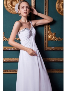 Chiffon White 2013 Empire Backless Beach Prom Dress IMG_1461