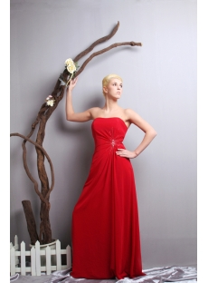 Classical Simple Plus Size Prom Dresses 2013 Red SOV111017