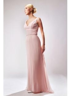 Coral Unique Plus Size Prom Dress with V-neckline SOV111003