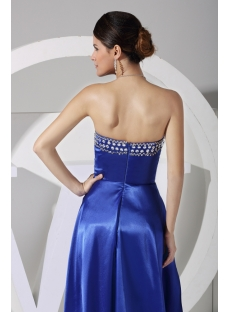 Cute Royal High-low Prom Dress with Train WD1-058