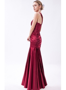 Decent One Shoulder Wine Mermaid Graduation Dresses IMG_1018
