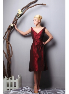 Deep V-neckline Burgundy 2013 Prom Dress Cheap SOV112011