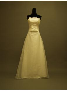Detachable Train Column Bridal Gown P8310662