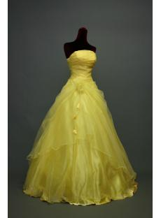 Discount Floor Length Yellow Quinceanera Dresses img_7021