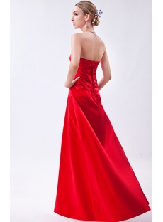 Discount Simple Red Long Corset Bridesmaid Dress IMG_0936