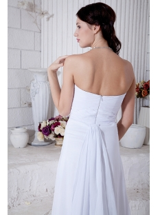 Discount White Split Front Sweetheart Beach Brida Gown IMG_7018