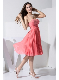 Elegant Sweetheart Watermelon Pregnancy Prom Dresses WD1-011