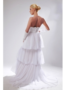 Empire Layers Casual Bridal Gown with Row SOV110005
