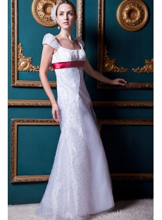 Empire Modest Bridal Gown with Cap Sleeves IMG_1650