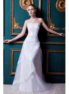 Equisite Floor Length 2013 Wedding Dress with Corset Back IMG_1692