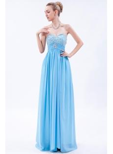Exquisite Aqua Empire Long Pregnancy Evening Dress img_9683