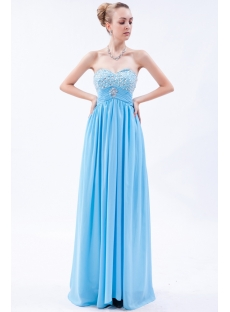 Exquisite Aqua Empire Long Pregnancy Evening Dress img_9683