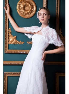 Floor Length Lace Bridal Gown with Cape IMG_1580