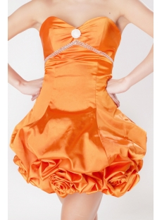 Floral Orange Mini Length Short Quinceanera Dresses with Sweetheart SOV113001