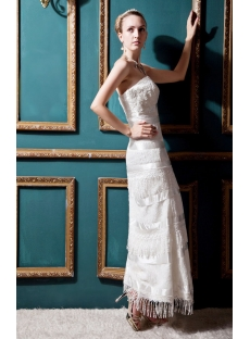 Fringed Ankle Length Western Casual Bridal Gown IMG_0453