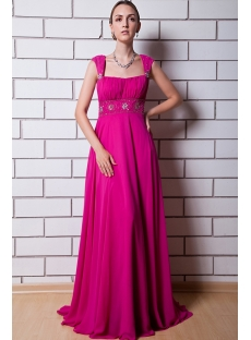 Fuchsia Maternity Prom Dress for Wedding IMG_0758