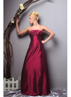 Fuchsia Taffeta Long Formal Modern Bridesmaid Dresses Discount SOV111012