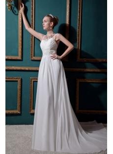 Glamorous Chiffon Backless Wedding Gown IMG_0490