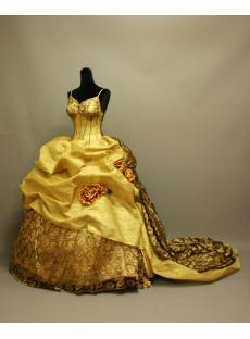 Gold Victorian Gothic Wedding Gowns 2013 IMG_6853
