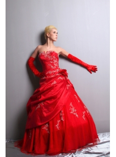 Gorgeous Red Pretty Quinceanera Dress Ball Gown SOV113004