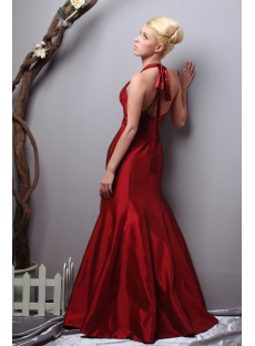 Halter Burgundy Long 2011 Prom Dresses in Wholesale Price SOV111013