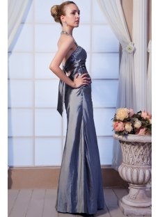 Halter Open Back Charming Silver Evening Dress IMG_0165