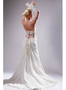 Halter Sexy Illusion Beach Bridal Gown in Summer SOV110010