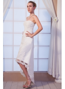 High-low Beach Lace Bridal Gown IMG_0234