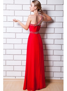 Honorable Red One Shoulder Amazing Prom Dresses IMG_0834