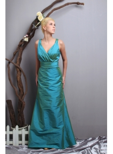 Hunter Green V-neckline Couture Prom Dress 2012 SOV111025