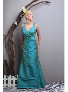Hunter Green V-neckline Couture Prom Dress 2012 SOV111025