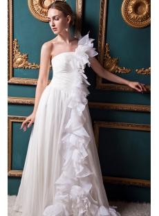 Ivory One Shoulder Unique One Shoulder Bridal Gowns IMG_1347