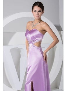 Lavender Ankle Length Sexy Evening Cocktail Dresses WD1-049