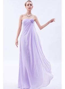 Lilac Elegant Strapless Graduation Dresses IMG_9715