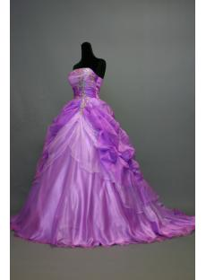 Lilac Romantic Best Quinceanera Dresses with Train IMG_7202
